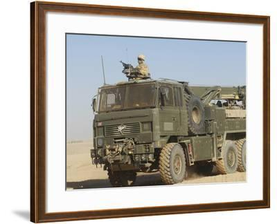 A British Army Foden 6X6 HeaVY Recovery Vehicle-Stocktrek Images-Framed Photographic Print