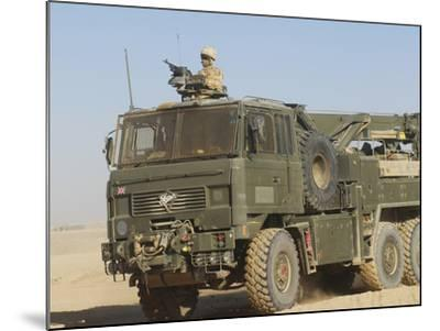 A British Army Foden 6X6 HeaVY Recovery Vehicle-Stocktrek Images-Mounted Photographic Print