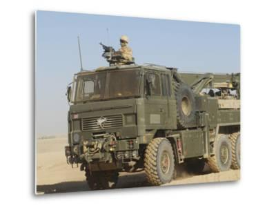 A British Army Foden 6X6 HeaVY Recovery Vehicle-Stocktrek Images-Metal Print
