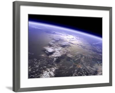 Artist's Concept of a Terrestrial Planet-Stocktrek Images-Framed Photographic Print