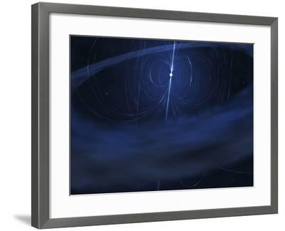 A Magnetar, a Very Small, Compact Neutron Star That Periodically Emits Light-Stocktrek Images-Framed Photographic Print