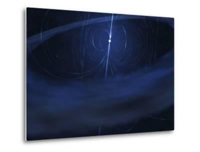 A Magnetar, a Very Small, Compact Neutron Star That Periodically Emits Light-Stocktrek Images-Metal Print