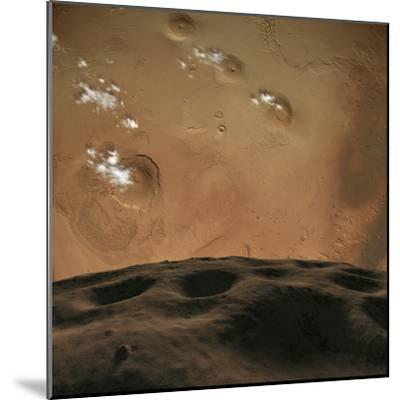 Phobos Orbits So Close to Mars That the Planet Would Fill the Little Moon's Sky-Stocktrek Images-Mounted Photographic Print