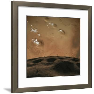 Phobos Orbits So Close to Mars That the Planet Would Fill the Little Moon's Sky-Stocktrek Images-Framed Photographic Print