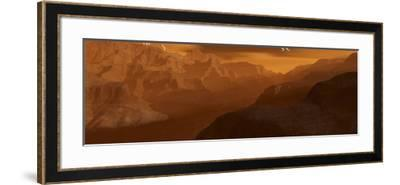 Illustration of the Maxwell Montes Mountain Range on the Planet Venus-Stocktrek Images-Framed Photographic Print