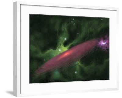 Protostellar Disk-Stocktrek Images-Framed Photographic Print