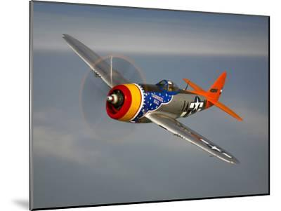 A Republic P-47D Thunderbolt in Flight-Stocktrek Images-Mounted Photographic Print