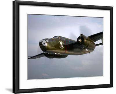 A North American B-25 Mitchell in Flight-Stocktrek Images-Framed Photographic Print