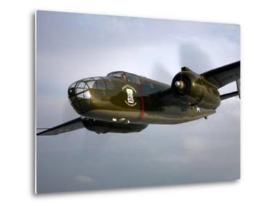 A North American B-25 Mitchell in Flight-Stocktrek Images-Metal Print