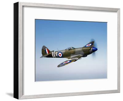 A Supermarine Spitfire MK-18 in Flight-Stocktrek Images-Framed Photographic Print