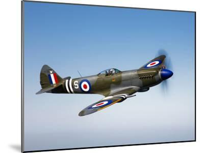 A Supermarine Spitfire MK-18 in Flight-Stocktrek Images-Mounted Photographic Print
