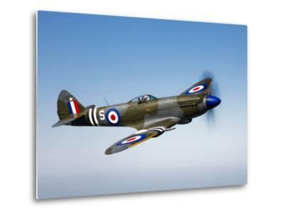 A Supermarine Spitfire MK-18 in Flight-Stocktrek Images-Metal Print