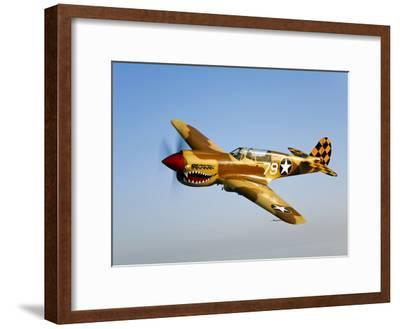 A P-40N Warhawk in Flight-Stocktrek Images-Framed Photographic Print