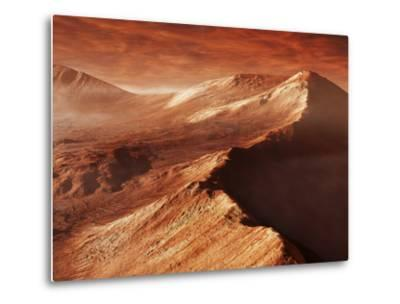 A Light Winter's Frost Forms in Mojave Crater, Trapped by the Crater's Mountainous Walls-Stocktrek Images-Metal Print