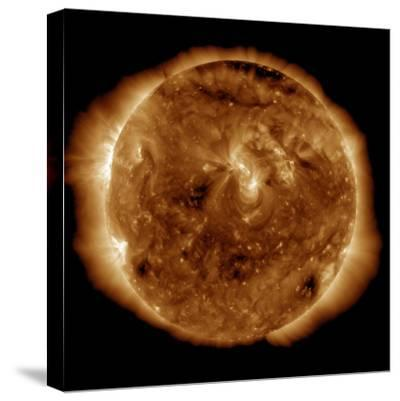 A Dark Rift in the Sun's Atmosphere known as a Coronal Hole-Stocktrek Images-Stretched Canvas Print