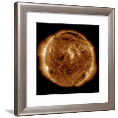 A Dark Rift in the Sun's Atmosphere known as a Coronal Hole-Stocktrek Images-Framed Photographic Print