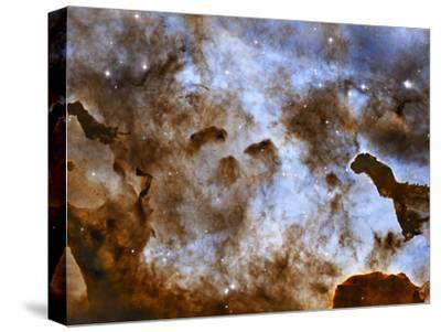 Carina Nebula Star-Forming Pillars-Stocktrek Images-Stretched Canvas Print