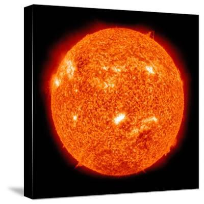Solar Activity on the Sun-Stocktrek Images-Stretched Canvas Print
