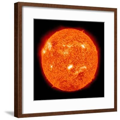Solar Activity on the Sun-Stocktrek Images-Framed Photographic Print