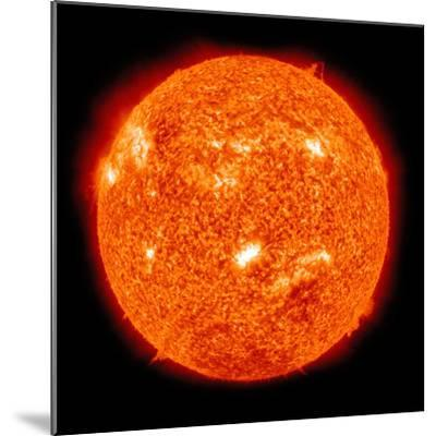 Solar Activity on the Sun-Stocktrek Images-Mounted Photographic Print