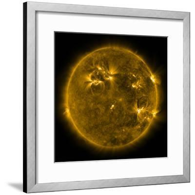 Solar Activity on the Sun-Stocktrek Images-Framed Photographic Print