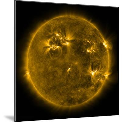 Solar Activity on the Sun-Stocktrek Images-Mounted Photographic Print
