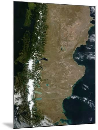 Satellite View of the Patagonia Region in South America-Stocktrek Images-Mounted Photographic Print