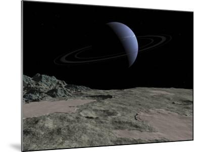 Illustration of the Gas Giant Neptune as Seen from the Surface of its Moon Triton-Stocktrek Images-Mounted Photographic Print