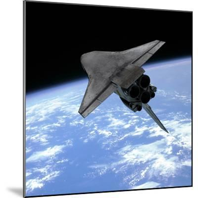 Artist's Concept of a Space Shuttle Entering Earth Orbit-Stocktrek Images-Mounted Photographic Print