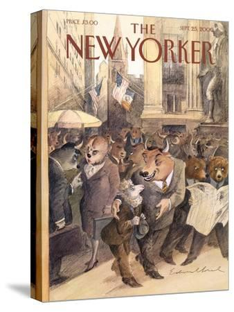 The New Yorker Cover - September 25, 2000-Edward Sorel-Stretched Canvas Print