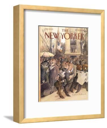 The New Yorker Cover - September 25, 2000-Edward Sorel-Framed Premium Giclee Print
