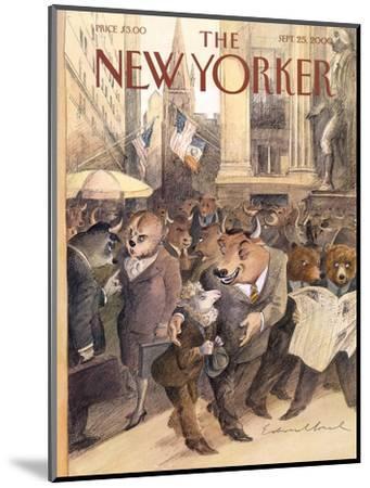 The New Yorker Cover - September 25, 2000-Edward Sorel-Mounted Premium Giclee Print