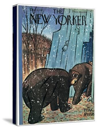 The New Yorker Cover - December 6, 1947-Peter Arno-Stretched Canvas Print