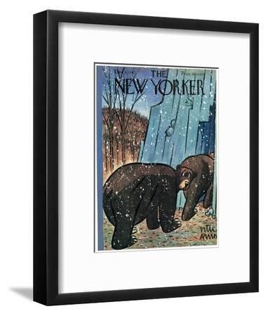 The New Yorker Cover - December 6, 1947-Peter Arno-Framed Premium Giclee Print