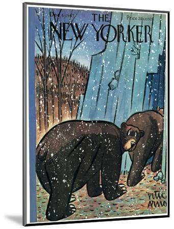 The New Yorker Cover - December 6, 1947-Peter Arno-Mounted Premium Giclee Print