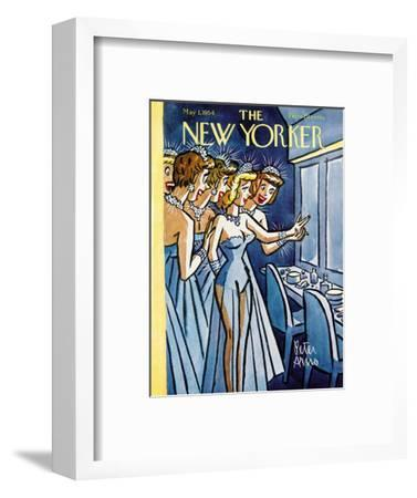 The New Yorker Cover - May 1, 1954-Peter Arno-Framed Premium Giclee Print