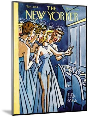 The New Yorker Cover - May 1, 1954-Peter Arno-Mounted Premium Giclee Print