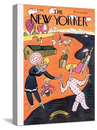 The New Yorker Cover - August 4, 1928-Julian de Miskey-Stretched Canvas Print