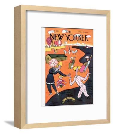 The New Yorker Cover - August 4, 1928-Julian de Miskey-Framed Premium Giclee Print