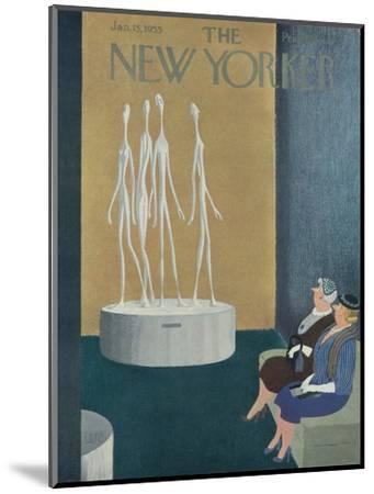 The New Yorker Cover - January 15, 1955-Charles E. Martin-Mounted Premium Giclee Print