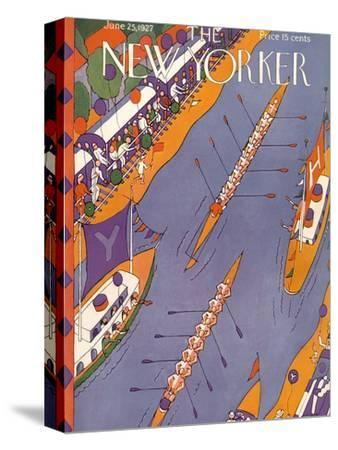 The New Yorker Cover - June 25, 1927-Ilonka Karasz-Stretched Canvas Print