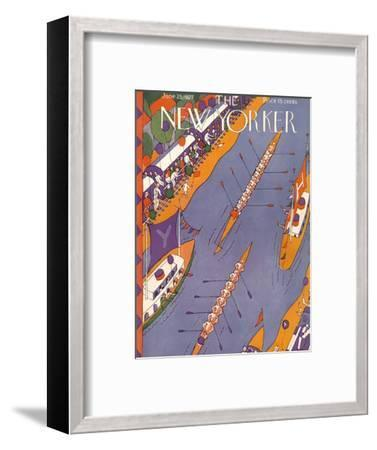 The New Yorker Cover - June 25, 1927-Ilonka Karasz-Framed Premium Giclee Print