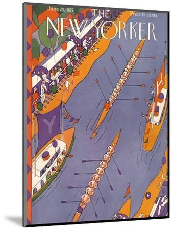 The New Yorker Cover - June 25, 1927-Ilonka Karasz-Mounted Premium Giclee Print