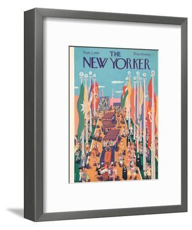 The New Yorker Cover - September 2, 1939-Ilonka Karasz-Framed Premium Giclee Print