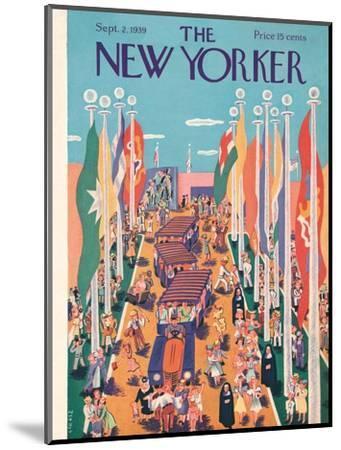 The New Yorker Cover - September 2, 1939-Ilonka Karasz-Mounted Premium Giclee Print