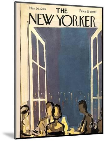 The New Yorker Cover - May 30, 1964-Arthur Getz-Mounted Premium Giclee Print