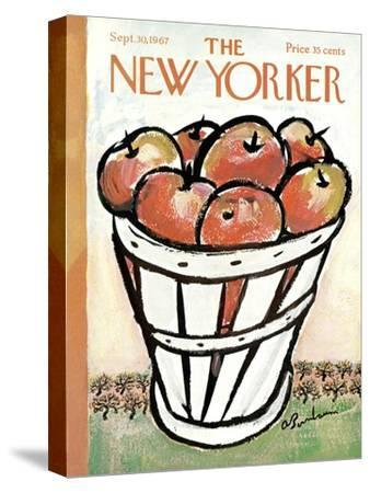 The New Yorker Cover - September 30, 1967-Abe Birnbaum-Stretched Canvas Print