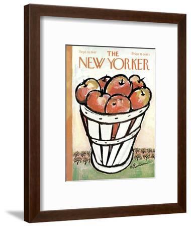 The New Yorker Cover - September 30, 1967-Abe Birnbaum-Framed Premium Giclee Print
