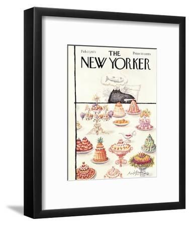 The New Yorker Cover - February 17, 1973-Ronald Searle-Framed Premium Giclee Print