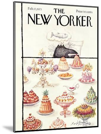 The New Yorker Cover - February 17, 1973-Ronald Searle-Mounted Premium Giclee Print